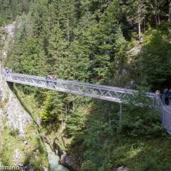 Höllbrücke in der Leutascher Klamm