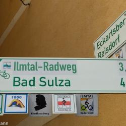 Radwegenetz in der Region Eberstedt - Bad Sulza - Auerstedt