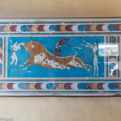 Knossos - typische Abbildung mit Sprung über den Stier