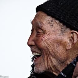 Bewohner in einem Altenheim in Jiande