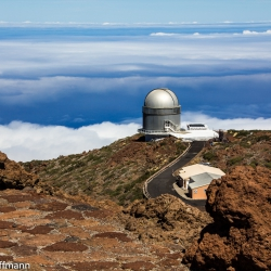 Nordic Optical Telescope (NOT) auf dem Roque de los Muchachos auf La Palma