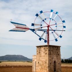 Mallorca, Pumpe, Windrad