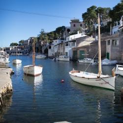 Bootshäuser in der Cala Figuera, Mallorca