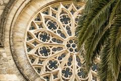 Fenster der Pfarrkirche Sant Jaume (Església Parroquial) von Alcúdia