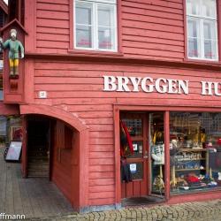 Norwegen Bryggen in Bergen, Bugarden
