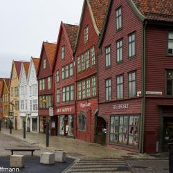Bryggen in Bergen - Altstadt