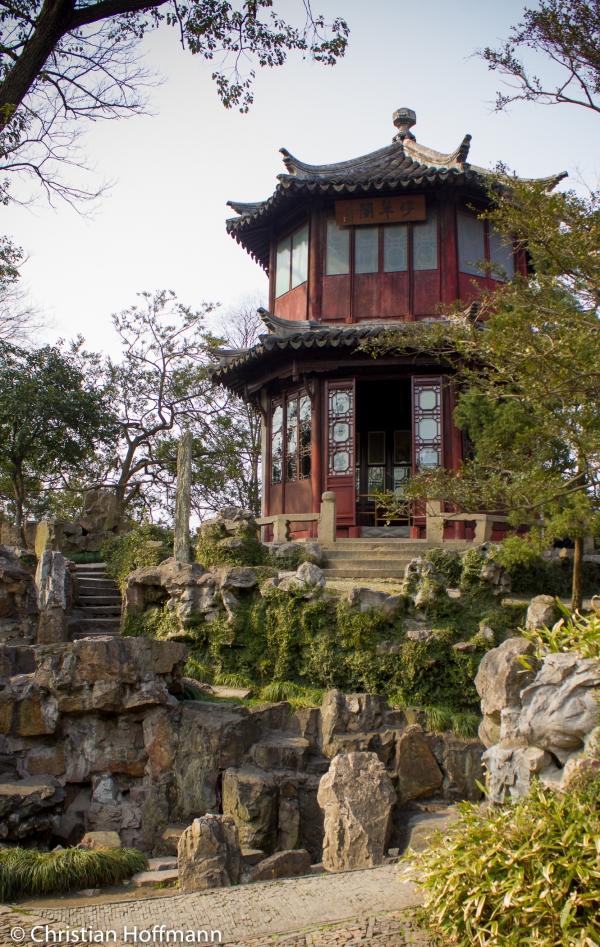 Bonsai im Garten des bescheidenen Beamten in Suzhou