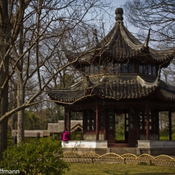 Pavillon im Garten des bescheidenen Beamten in Suzhou