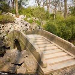 Brücke im Garten des bescheidenen Beamten in Suzhou