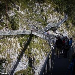 Panoramabrücke in der Leutascher Klamm