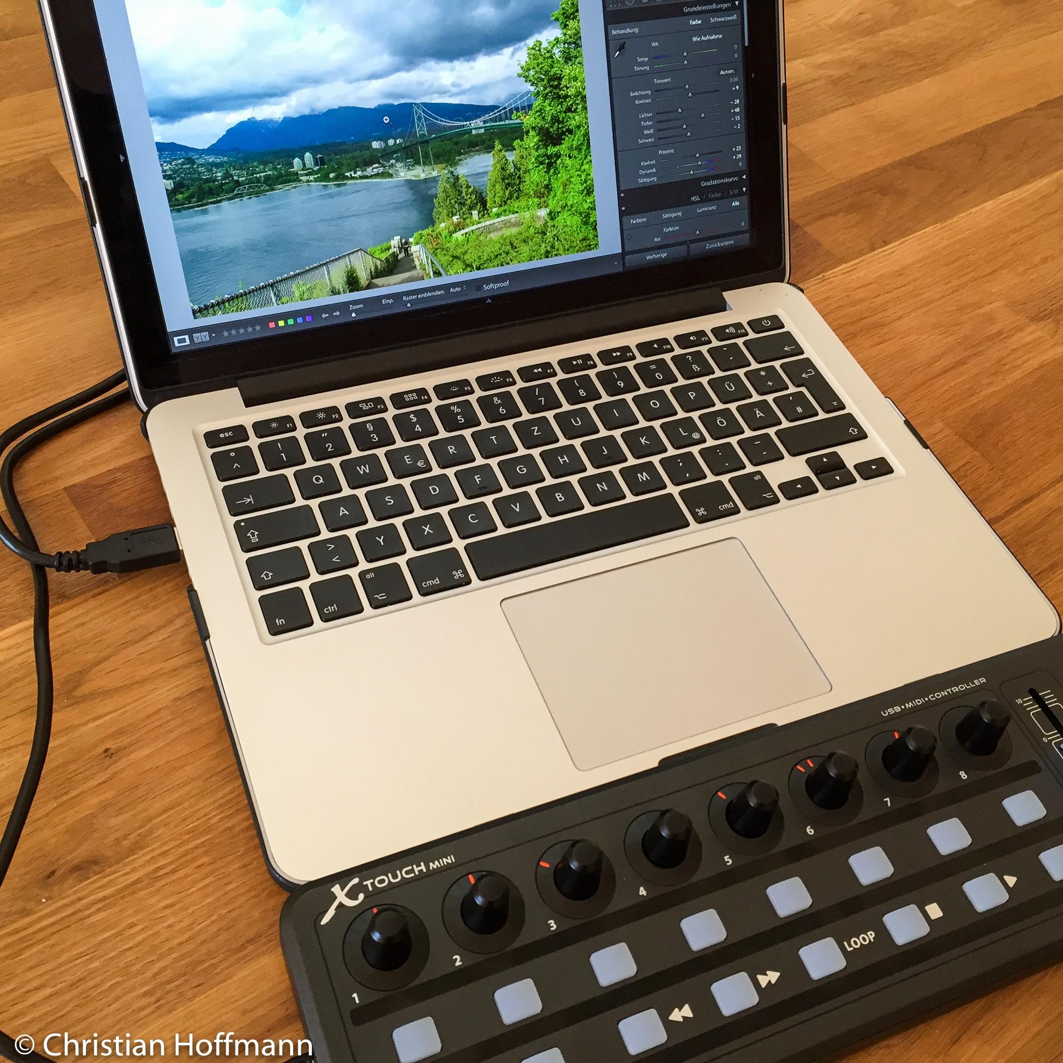 X-Touch-mini mit MIDI2LR zur schnellen Fotoentwicklung