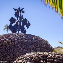 Windfahne am Mirador del Palmarejo auf Gomera
