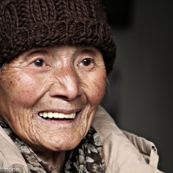 Bewohnerin in einem Altenheim in Jiande