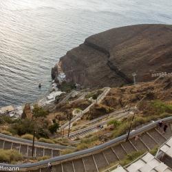 Santorini - Fira - Hafentreppe