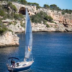 Ausfahrt aus der Cala Figuera, Mallorca