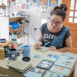 Ema Ramanskaite bei der Arbeit