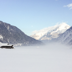 Winterbild-Lechtal