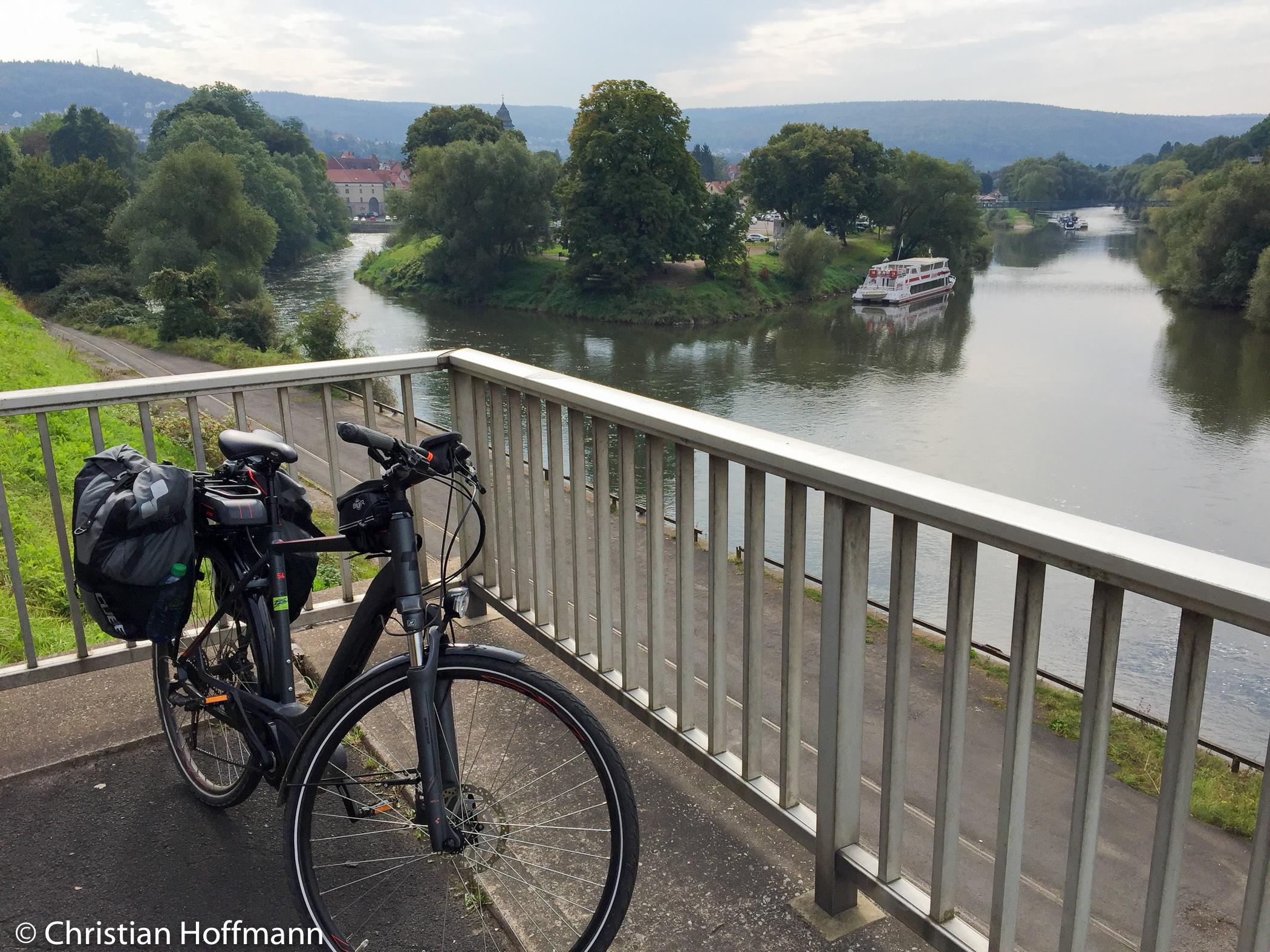 Mündung Fulda und Werra nun fließen sie als Weser weiter