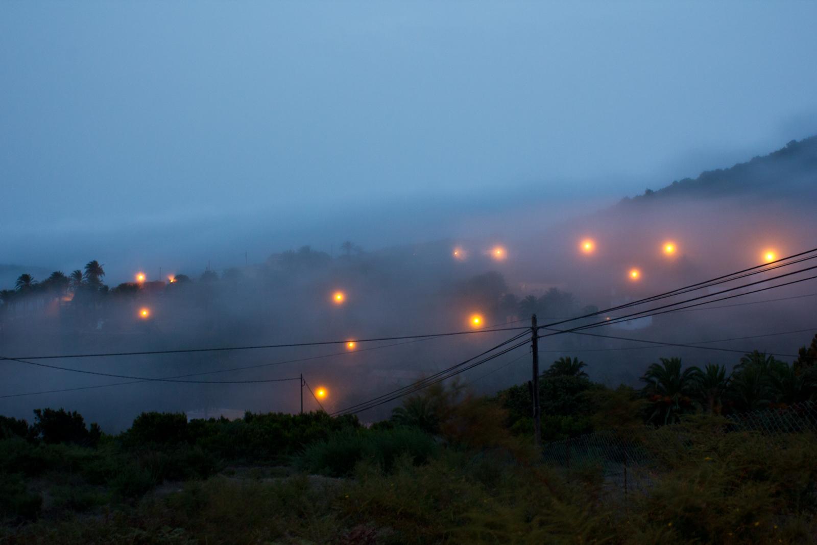 Nebel auf der Insel Gomera