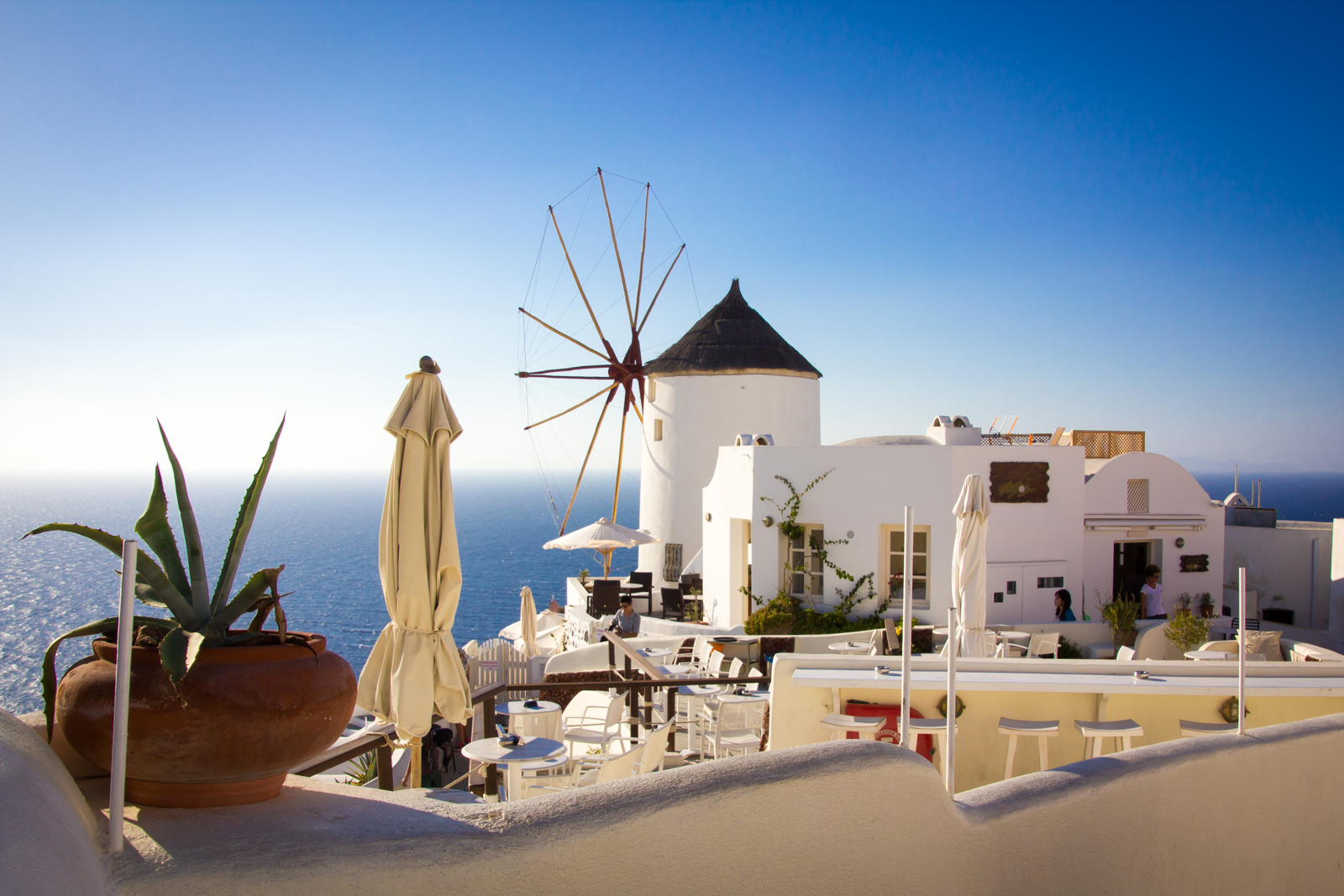 Via auf der griechischen Insel Santorini