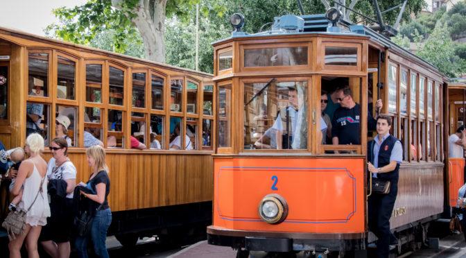 Straßenbahn auf Mallorca Soller